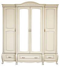 Классический шкаф для одежды Анна 4-х дверный с массива дерева от бренда  Элеонора стиль