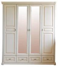 Шкаф Виктория 4-х дверный распашной из натурального дерева от Элеонора стиль классика Разные цвета