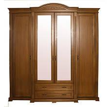 Шкафы распашные из натурального де Роксолана четырехдверные распашные от Элеонора стиль Разные цвета