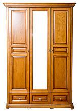 Шкаф 3-х створчатый с зеркалом Виктория из натурального дерева от Элеонора стиль