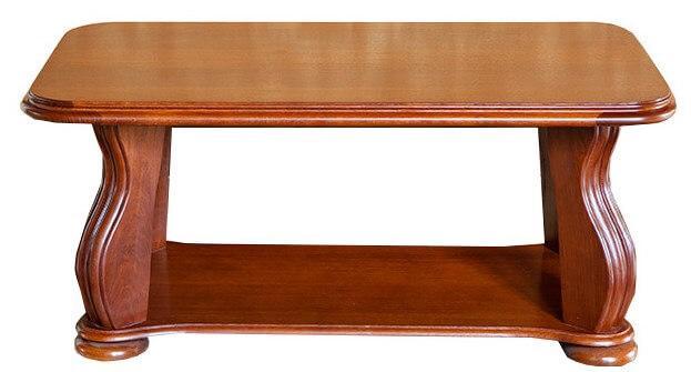 Столик журнальний з дерева Мадрид довжина 1,1 м з фігурними ніжками Різні кольори