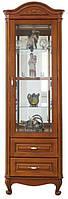 Мебельная витрина Анна от Элеонора стиль однодверная из натурального массива дуба