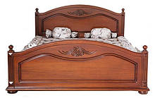 Кровать из массива дерева полуторная/двуспальная Элизабет от производителя на заказ классика Разные цвета