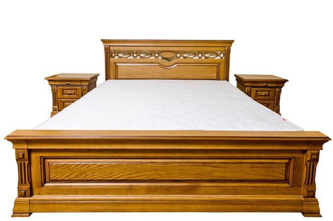 Ліжко з масиву дерева полуторне/двоспальне Елеонора від виробника на замовлення класика Різні кольори
