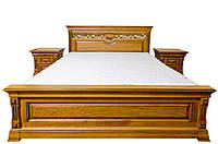 Ліжко з масиву дерева полуторне/двоспальне Елеонора від виробника на замовлення класика Різні кольори, фото 1