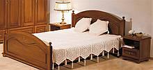 Кровать из массива дерева полуторная/двуспальная Эльза от производителя на заказ классика  Разные цвета