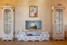 Гостиная комната в стиле прованс Зефир-прованс из натурального дерева бренда Элеонора стиль