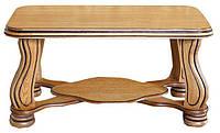 Стол журнальный Брабант от Элеонора стиль длина 1,1 м с фигурными ножками из натурального дерева