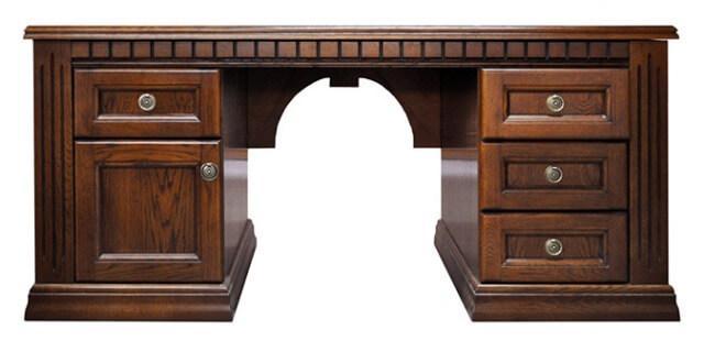 Стол руководителя из дерева Оскар Письменный стол в кабинет руководителя из дуба от Элеонора стиль
