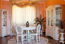 Мебель в гостиную из дерева Гостиная стенка Зефир бренда Элеонора стиль