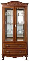 Витрина Анна 2-х дверная из натурального дерева в гостиную Элеонора стиль, фото 1