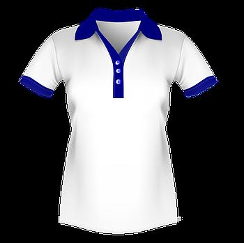 Женская футболка поло для сублимации, белый/синий