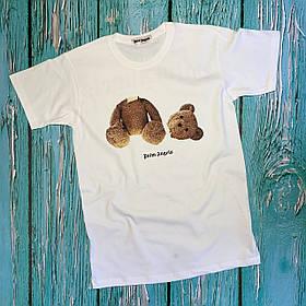 Футболка біла Palm Angels Kill Bear • Палм Анджелс футболка