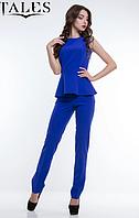 ✔️ Женский костюм Daniel брюки и блузка с баской 42-48 размеры разніе расцветки