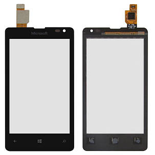 Сенсор (тачскрин) для Microsoft (Nokia) 435 Lumia, 532 Lumia Dual SIM черный, фото 2