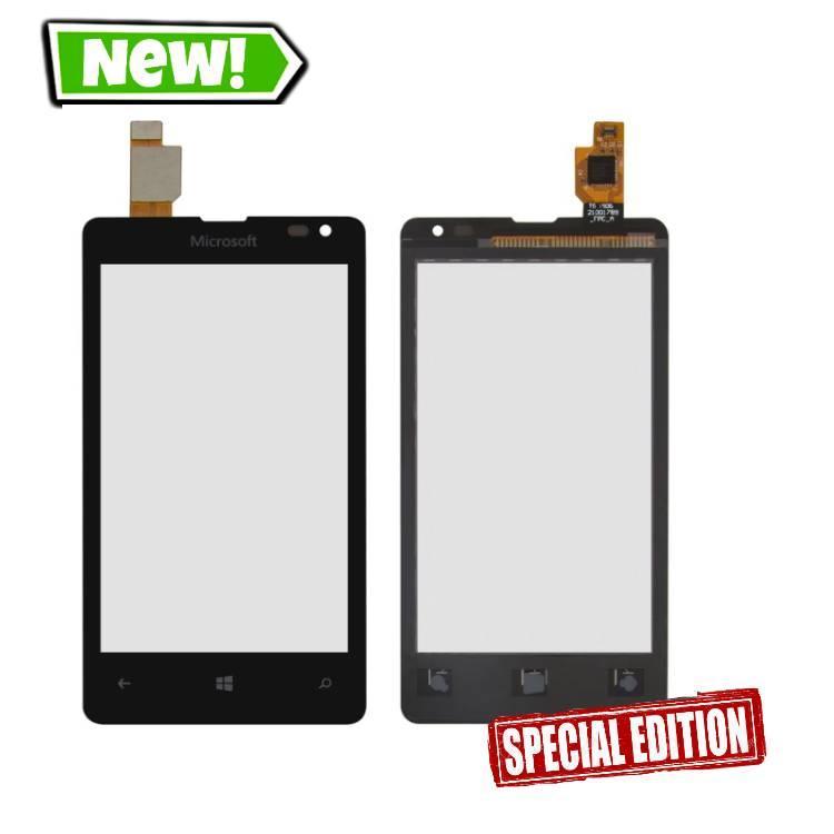 Сенсор (тачскрин) для Microsoft (Nokia) 435 Lumia, 532 Lumia Dual SIM черный