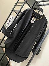 Женская рубашка, рубашечный коттон, р-р универсальный 42-46 (чёрный)