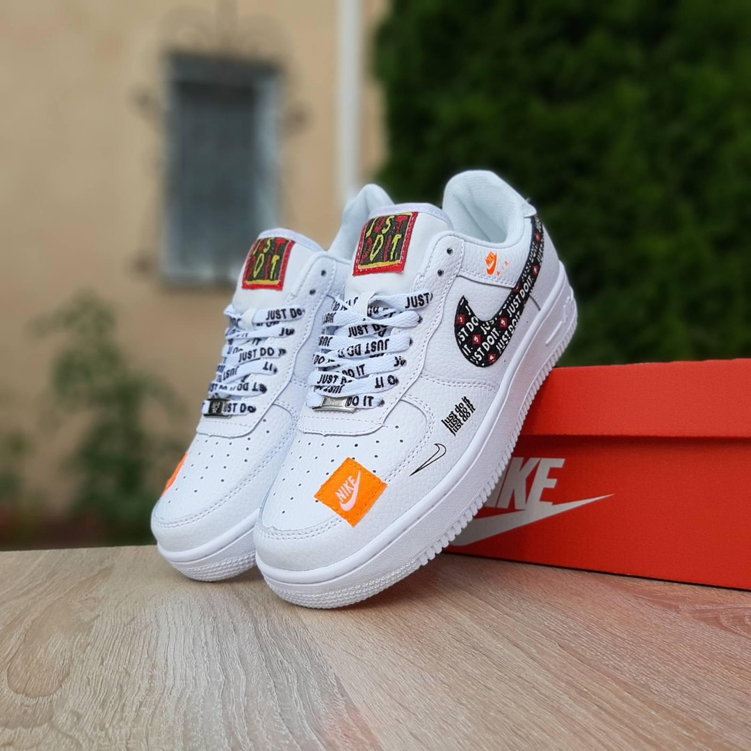 Кроссовки женские Nike Air Force 1 x Off-White Low Just Do It Pack. Женские кроссовки.