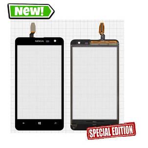 Сенсор (тачскрин) для Nokia 625 Lumia черный, фото 2