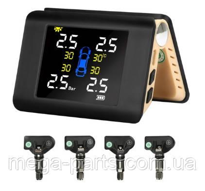Система контроля давления и температуры в шинах  с большим экраном TPMS внутренние датчики