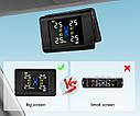 Система контроля давления и температуры в шинах  с большим экраном TPMS внутренние датчики, фото 7