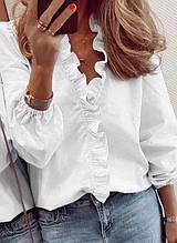 Женская блузка, рубашечный коттон, р-р универсальный 42-46 (белый)
