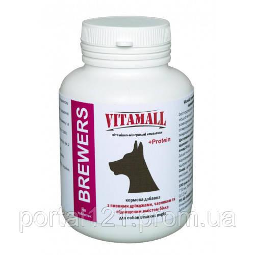 Кормовая добавка VitamAll с пивными дрожжами и чесноком, для крупных собак, 90 табл/180 г
