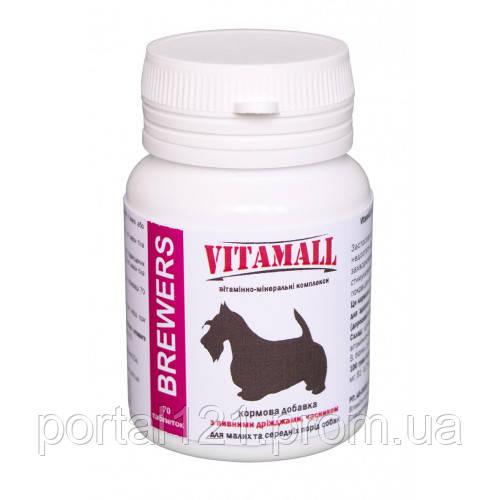 Кормова добавка VitamAll з пивними дріжджами і часником, для малих і середніх порід собак, 70 табл