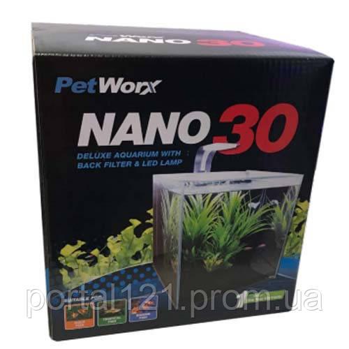 Акваріумний набір PetWorx Nano-30 з обладнанням, 27 л