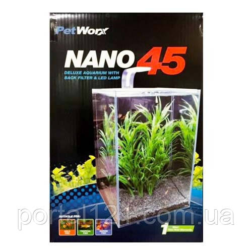 Аквариумный набор PetWorx Nano-45 с оборудованием, 40 л