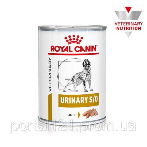 Вологий корм Royal Canin Urinary S/O при сечокам'яної хвороби у собак, 410 г