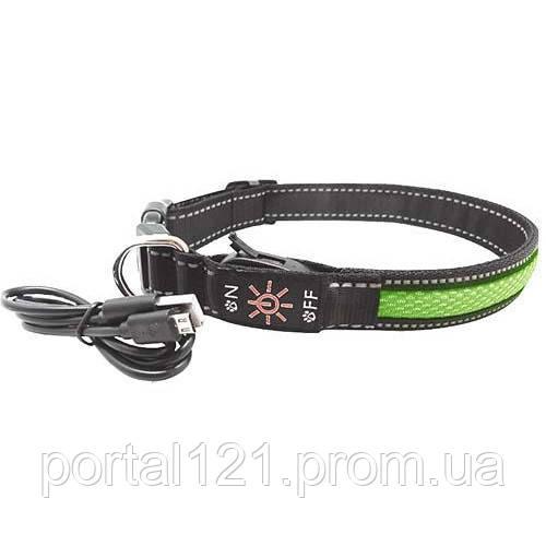 Нашийник LED AnimAll для собак M 2,5/40-50 см, зелений