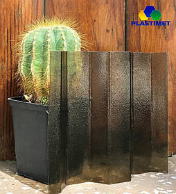 Профільний полікарбонат Suntuf колотий лід (1,06х4м) бронза 2УФ захист