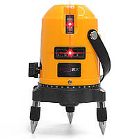 Профессиональный лазерный уровень BAZ нивелир 5 линий Оранжевый 9287, КОД: 1350065