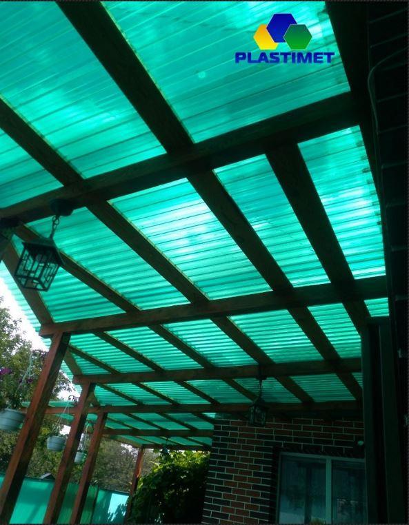 Профільний полікарбонат Suntuf (1,26х2м) зелений 55%