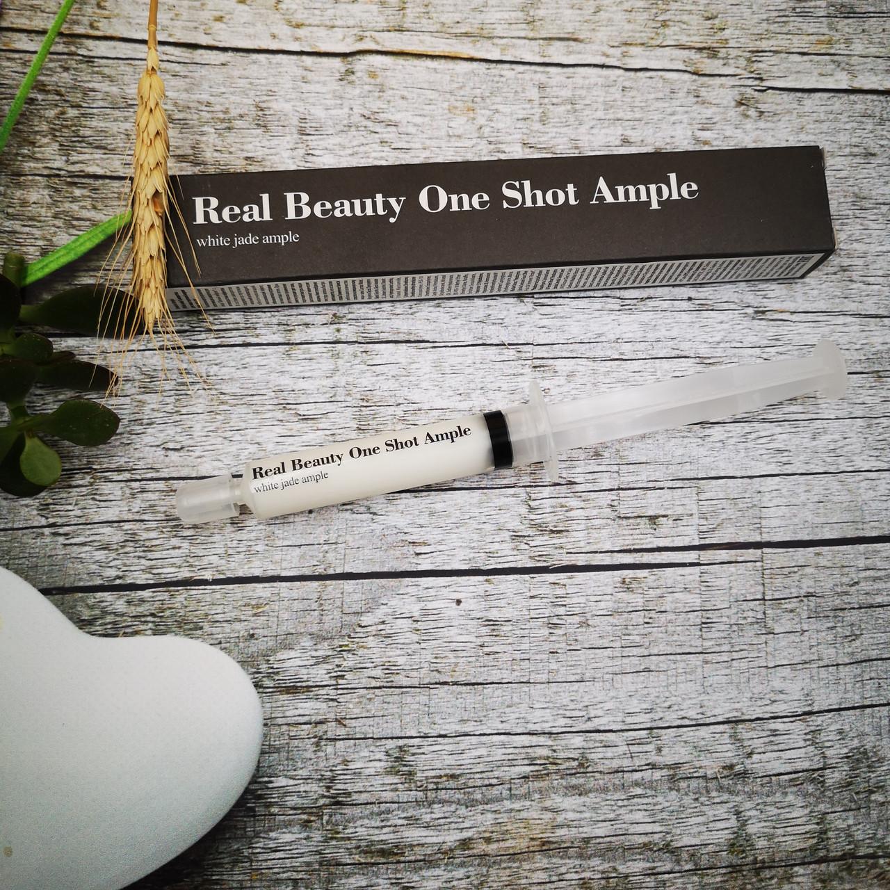 Антивозрастная сыворотка для лица Улучшает цвет кожи лица Oneshot Ample (White jade)