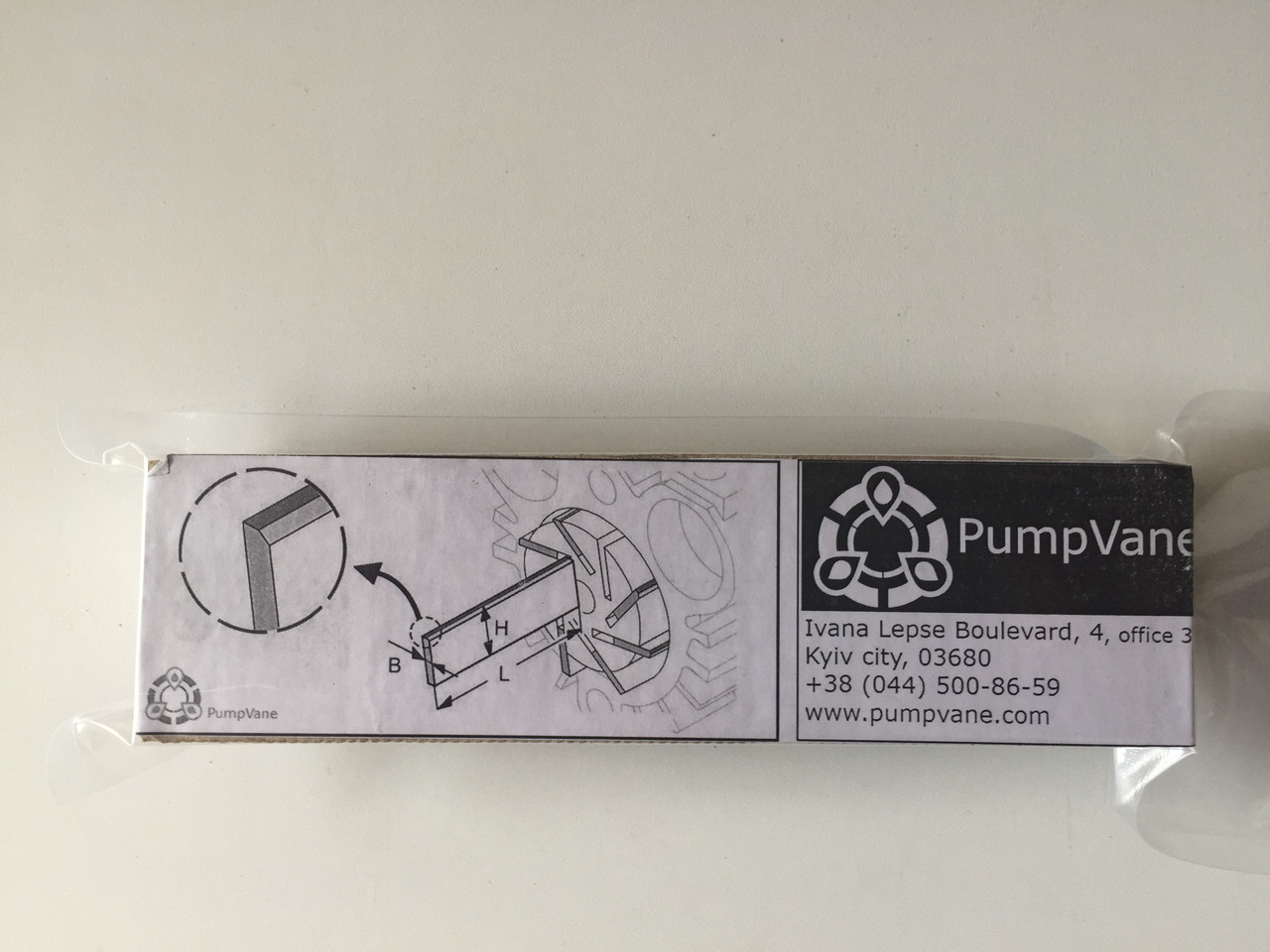 170*39*4 мм Лопатка графитовая для вакуумного насоса Беккер KDT 2.80 90133000004
