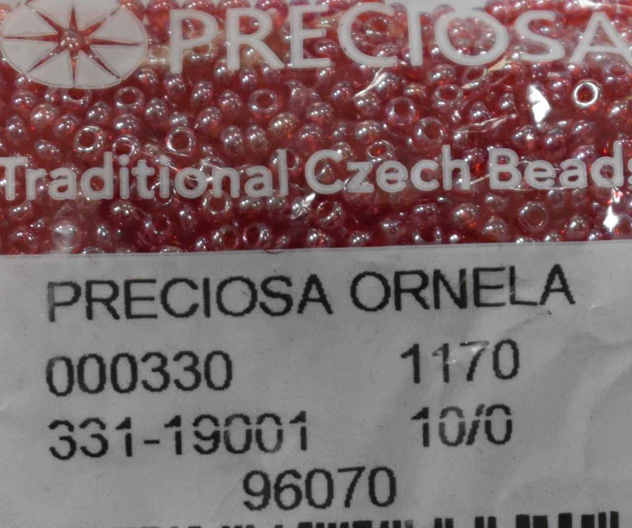 Бісер Preciosa 10/0 колір 96070 червоний 10г