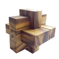 Деревянная головоломка Круть Верть Крест 2+3+3 8х8х8 см nevg-0005, КОД: 119468