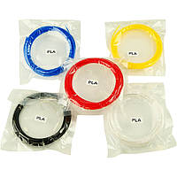 Набор пластика для 3D печати PLA, L=5 м x 5 цветов для 3D ручки