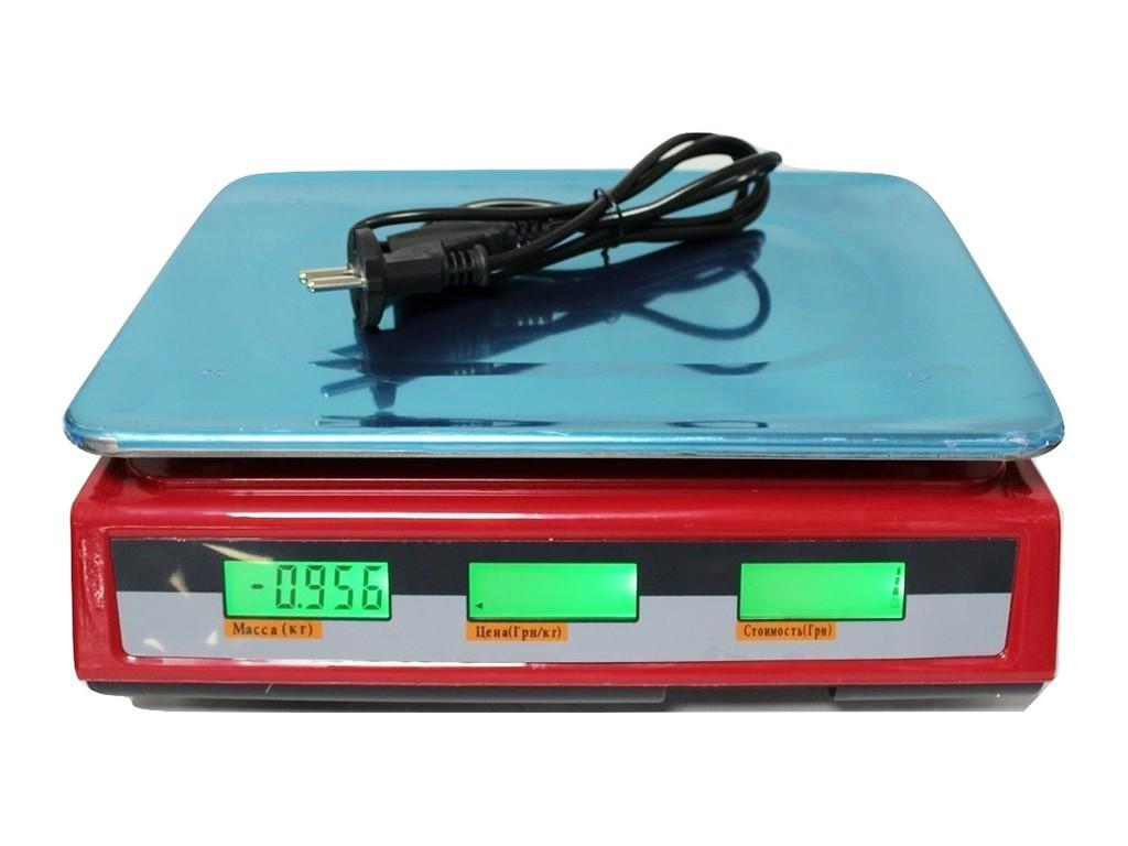 Торговые весы со счетчиком цены Crownberg CB-5007 до 40 кг