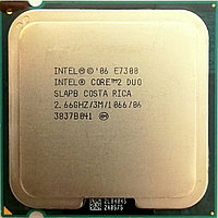 Процессор Intel Core 2 Duo E7300 M0 SLAPB 2.66GHz 3M Cache 1066 MHz FSB Socket 775 Б/У, фото 1