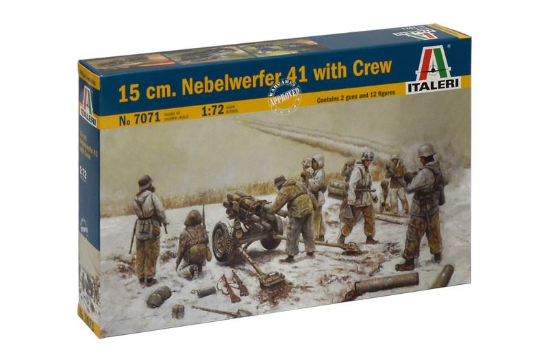 150 мм гранатомет Nebelwerfer 41 с расчетом. Сборная модель в масштабе 1/72. ITALERI 7071