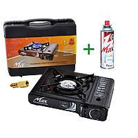 Акция! Плита газовая портативная, Плита MS-2500 LPG Мах (Корея) с адаптером + газовый баллон