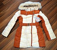 Зимняя куртка для девочки теплая 128,140р