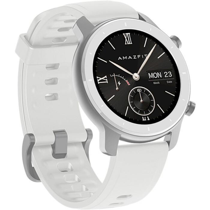 Умные смарт-часы Amazfit GTR 42mm Moonlight White