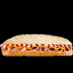 """Сендвич «Гамбург» с свинной ветчиной, кетчупом и майонезным соусом  TM """"City Food"""" 240г"""