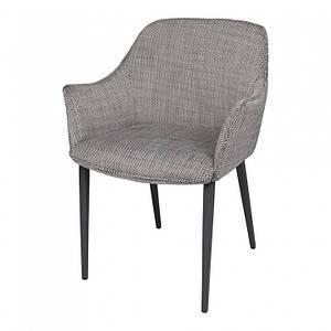 Обеденное кресло MILTON (Милтон) черно- белый от Nicolas, рогожка