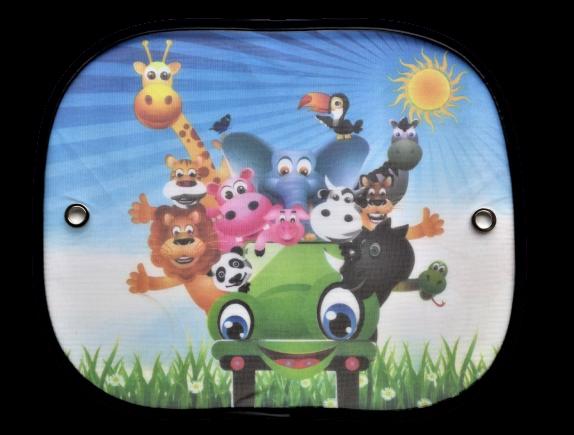 Боковые солнцезащитные шторки CarCommerce на присосках с рисунком 2шт 44 * 38см 42650