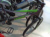 Горный подростковый велосипед Azimut Forest 24 черно-салатовый  85% собран.в коробке + ПОДАРОК!!!